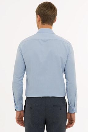 Pierre Cardin Erkek Koyu Mavi Slim Fit Armürlü Gömlek G021GL004.000.1214466 2