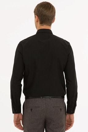 Pierre Cardin Erkek Siyah Slim Fit Basic Gömlek G021gl004.000.1214451 2