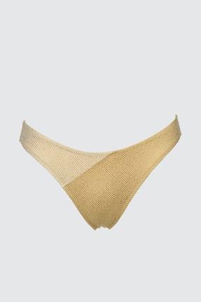 TRENDYOLMİLLA Bronz Renk Bloklu Bikini Altı TBESS21BA0255 4