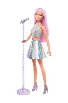 Barbie Pop Star Bebek ve Mikrofonu FXN98-DVF50 0