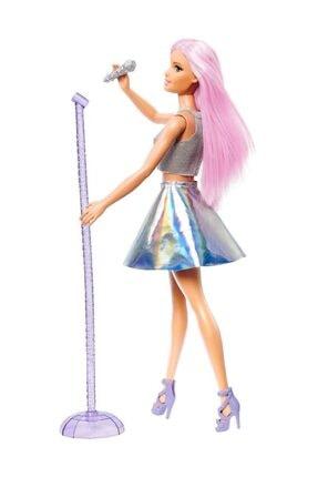 Barbie Pop Star Bebek ve Mikrofonu FXN98-DVF50 4