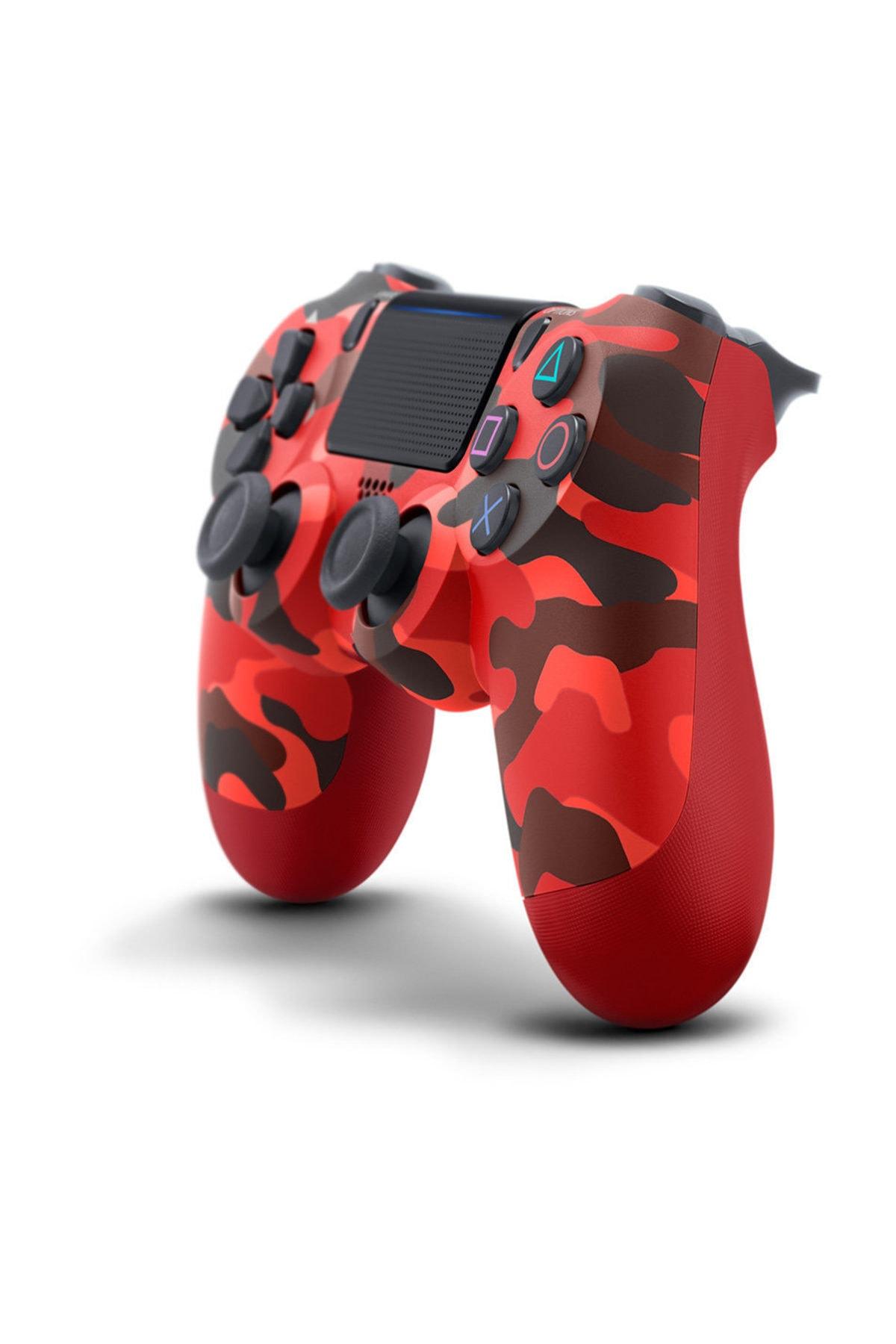Sony PS4 Dualshock Kablosuz Kumanda Red Camouflage - Kırmızı Kamuflaj V2