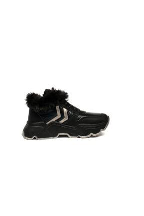 Ewoll Kadın Siyah Spor Ayakkabı 2