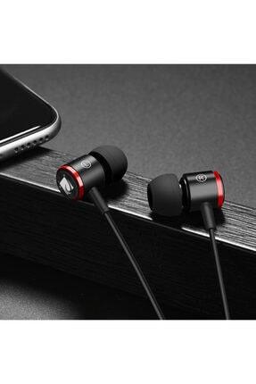 JABRON Siyah Jb-19 Pro Mikrofonlu Kablolu Kulak Içi Kulaklık ve Özel Taşıma Çantası 4