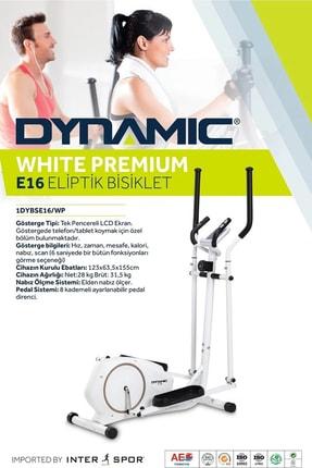 Dynamic E16 White Premium Manyetik Eliptik Bisiklet 4