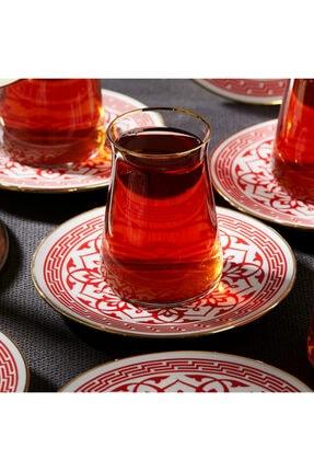 Karaca Ocha Kırmızı 12 Parça Çay Seti 1