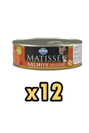 Matisse Mousse Somonlu Kedi Konservesi 85 gr 12'li 0
