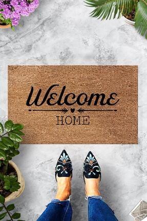 Evsebu Welcome Home Bej Dekoratif Kapı Önü Paspası 0