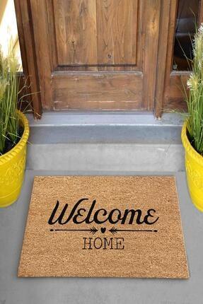 Evsebu Welcome Home Bej Dekoratif Kapı Önü Paspası 1