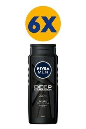Nivea Men Deep Dimension Duş Jeli 500 ml X6 0