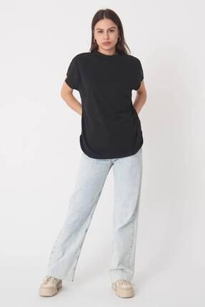 Addax Kadın Siyah Basic T-Shirt P0769 - U13 Adx-0000020933 4