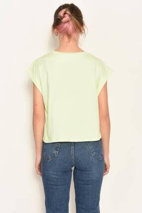 Addax Kadın Su Yeşili Bisiklet Yaka Basic T-Shirt P0934 - Dk3 Adx-0000022259 3