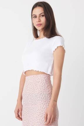 Addax Kadın Beyaz Basic T-Shirt P0972 - T7 Adx-0000022401 4