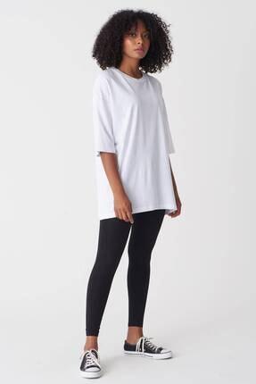 Addax Kadın Beyaz Baskılı T-Shirt P1029 - J1 Adx-0000022711 2