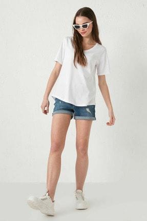 LC Waikiki Kadın Optik Beyaz LCW Casual Tişört 3