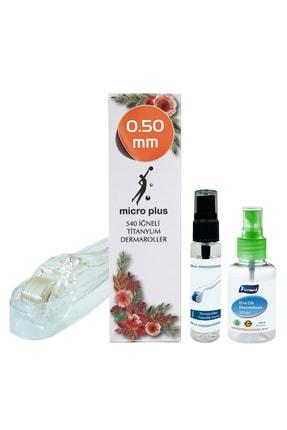 Micro Plus Dermaroller 0.50mm Titanyum 540 Iğneli Saç Yüz Vücut Derma Roller Cilt Ve Dermaroller Dezenfektanı 0