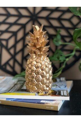 E.K. CONCEPT Gold El Yapımı Ananas Biblo 0