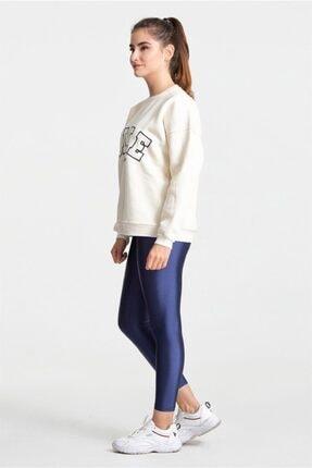 Modayıldızlar Kadın Krem Nike Yazılı Sweatshirt 2