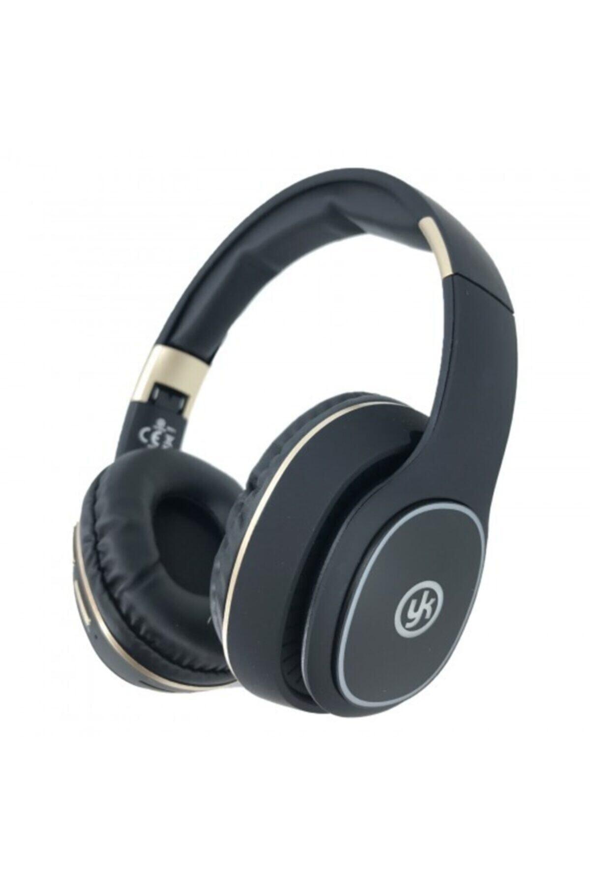 Sıyah Led Işıklı Bluetooth Kafaüstü Wireless Kulaklık Ledsr8111