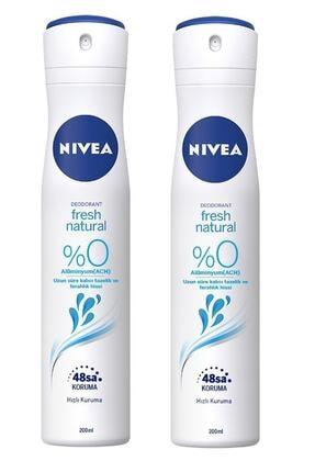 Nivea Fresh Natural Deodorant 200 Ml 2 Adet 0