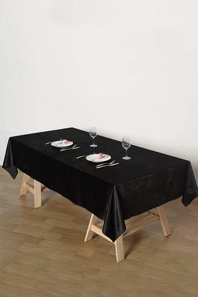 Çeyizci Siyah Kadife Nişan Masası Masa Örtüsü 135x220 cm 0