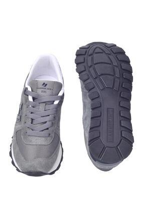 Hammer Jack Kadın Gri Lacivert Peru Deri Sneaker  Ayakkabı 102 19250-g 4