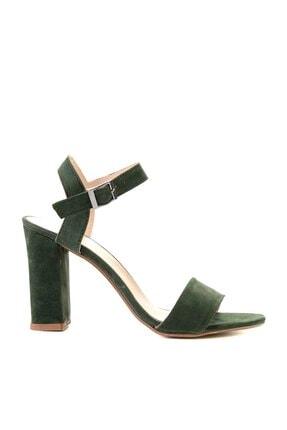 Bambi Yeşil Süet Kadın Klasik Topuklu Ayakkabı K05503740072 2
