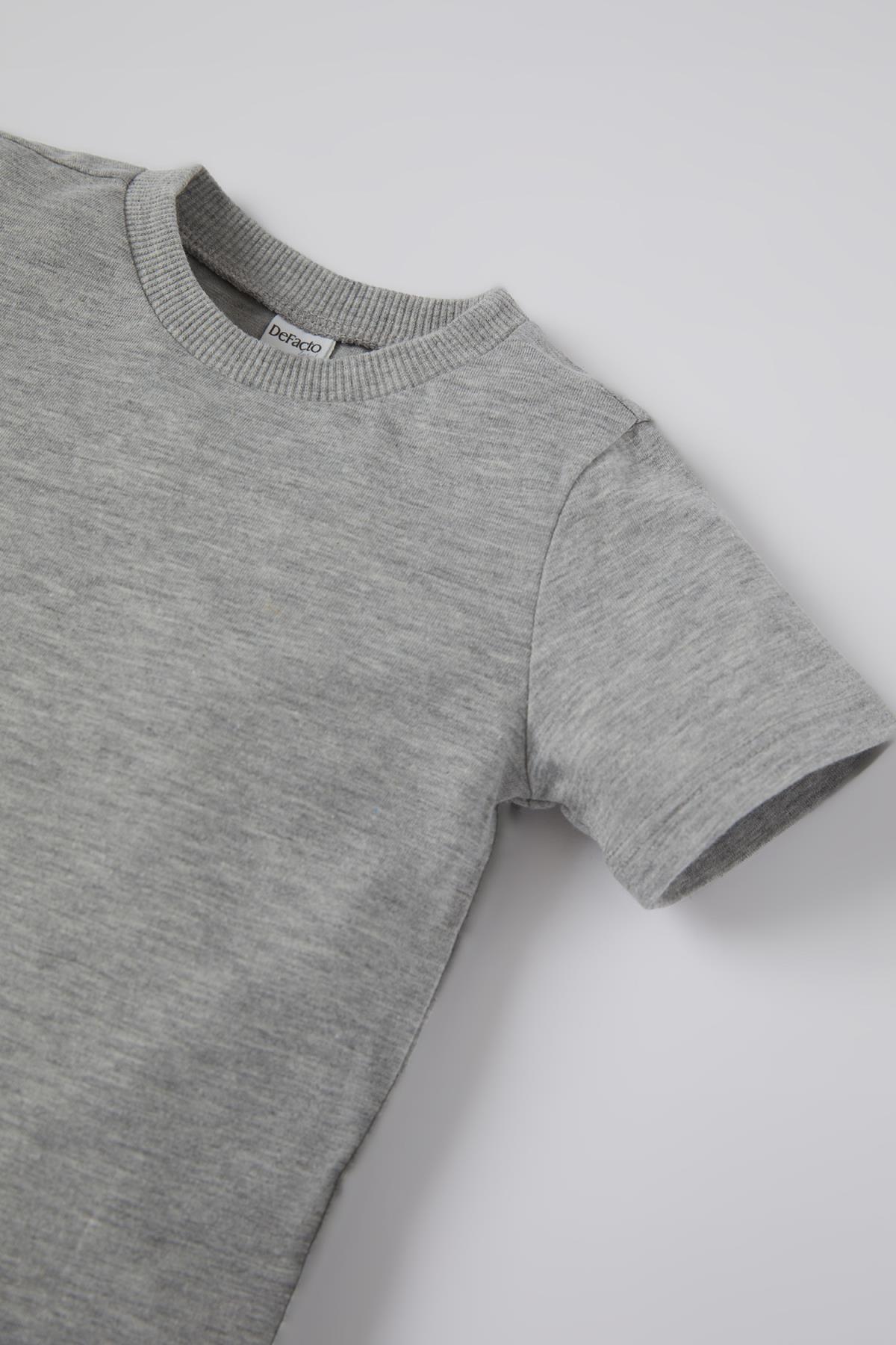 Defacto Erkek Bebek Basic 2'li Kısa Kol Pamuklu Tişört