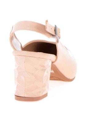 Bambi Bej Kadın Klasik Topuklu Ayakkabı K01688071109 3