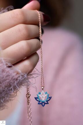 By Barun Silver Lotus Yaşam Çiçeği Gümüş Kolye 0