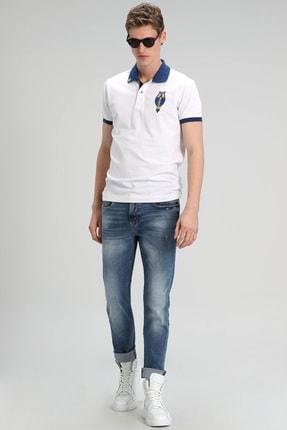 Lufian Palm Spor Polo T- Shirt Beyaz 1
