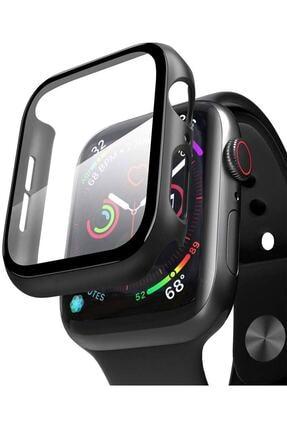 TahTicMer Apple Watch 44mm Tpu Çerçeveli Ekran Koruyuculu Ön Çerçeve Kılıf Hediyeli 0