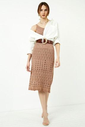 Vis a Vis Kadın Tarçın Askılı Merserize Kroşe Elbise 4