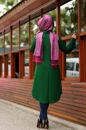 SALİHA Kadın Yeşil Büyük Beden Elit Tunik 1