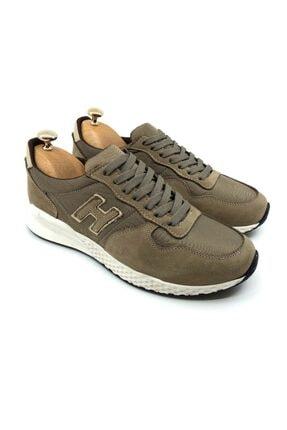 Tetri Erkek Bej Hakiki Deri Sneakers 1
