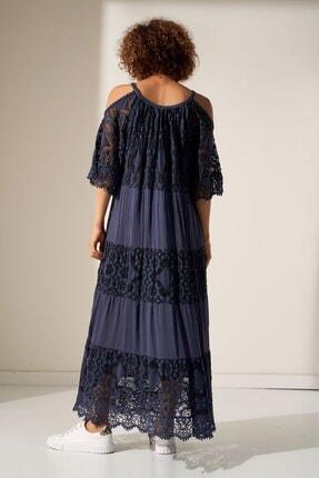 Camena Omzu Açık Dantelli Elbise 2019070500202 2