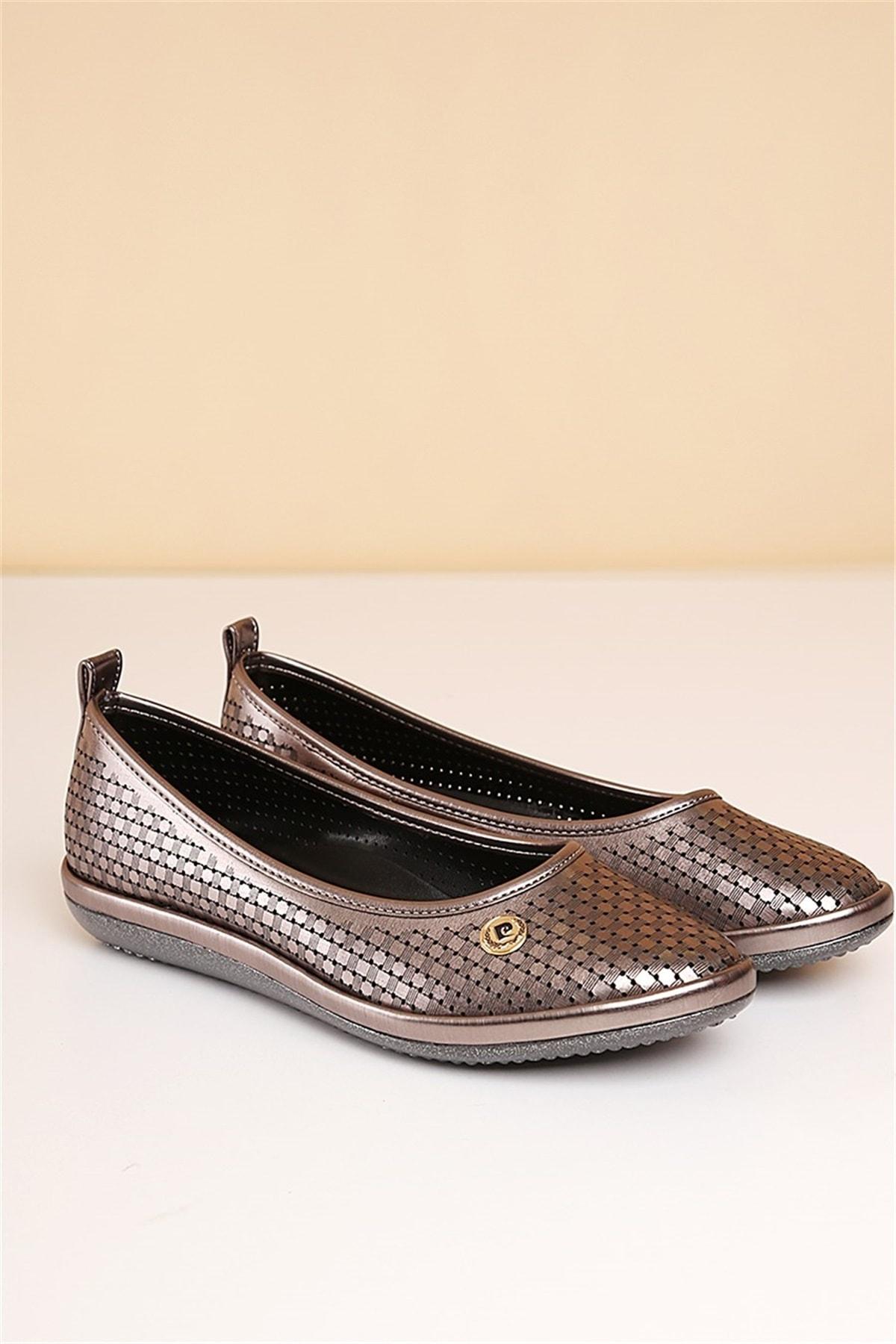 Pierre Cardin 591-Platin Kadın Klasik Ayakkabı