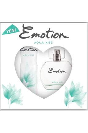 Emotion Aqua Kiss Bayan Edt 50 Ml + 150 Ml Deodorant Parfüm Seti 1