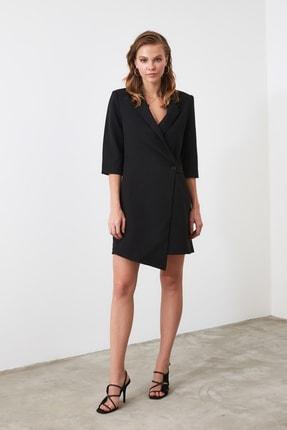TRENDYOLMİLLA Siyah Kruvaze Ceket Elbise TWOSS19AA0062 2