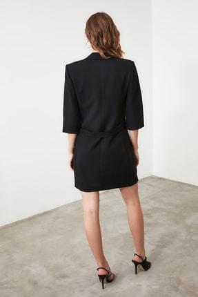 TRENDYOLMİLLA Siyah Kruvaze Ceket Elbise TWOSS19AA0062 4
