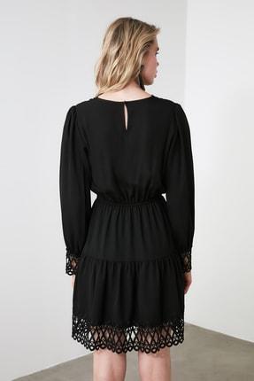 TRENDYOLMİLLA Siyah Güpürlü Elbise TWOAW20EL0587 3