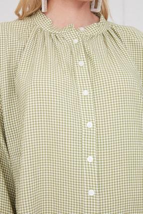 TRENDYOLMİLLA Yeşil Ekoseli Gömlek TWOAW21GO0114 3