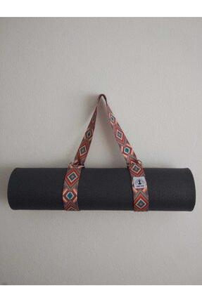Om Guru Yoga Desenli Mat Taşıma Askısı Kırmızı 4