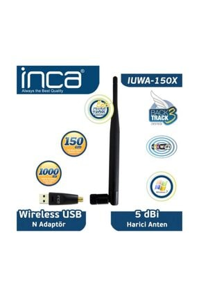 Inca Iuwa-150x 150 Mbps 11n Harici 5dbi Anten Wireless Adaptör 1