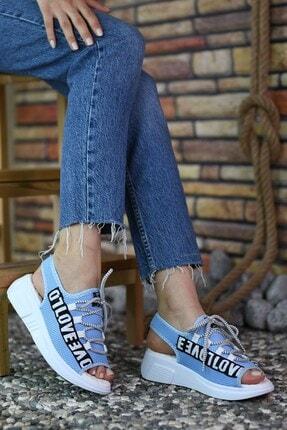 Riccon Mavi Kadın Sandalet 0012999 1