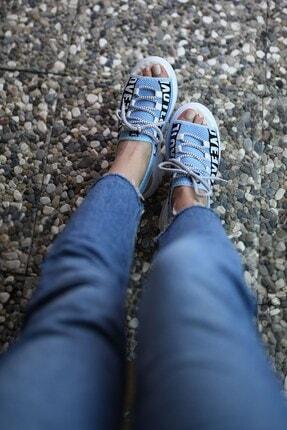Riccon Mavi Kadın Sandalet 0012999 3