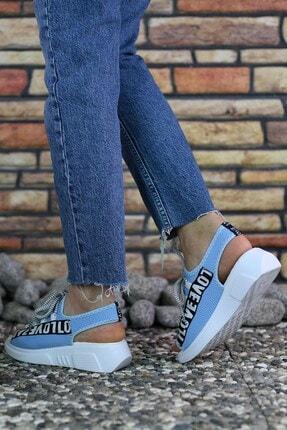 Riccon Mavi Kadın Sandalet 0012999 4
