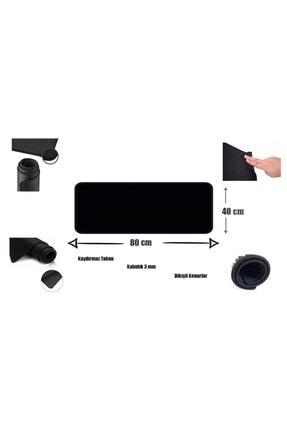 Appa Srf-888 Düz Siyah Oyuncu Mouse Pad 80x40 Cm Kaymaz Dikişli 2