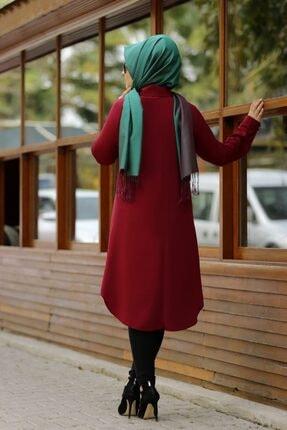 SALİHA Kadın Bordo Büyük Beden Elit Tunik 2