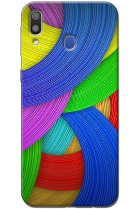 Turkiyecepaksesuar Samsung Galaxy M20 Kılıf Silikon Baskılı Desenli Arka Kapak 0
